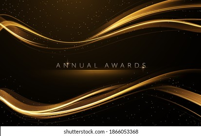 Award nomination ceremony luxury background with golden glitter sparkles - Shutterstock ID 1866053368