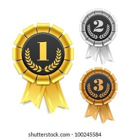 Award ribbon. Vector.