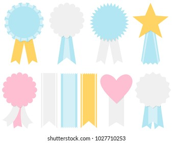 Award ribbons and badges