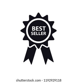 Award stamp icon medal style flat trendy