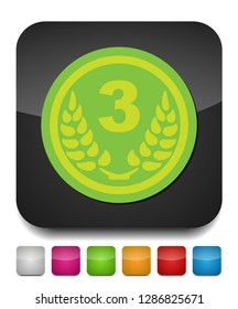 award winner - Third place prize, vector competition badge