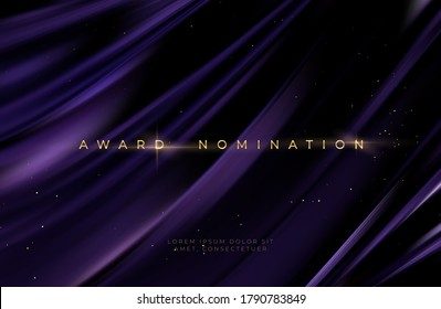Awarding the nomination ceremony luxury black wavy background with golden glitter sparkles. Vector background EPS10 - Shutterstock ID 1790783849