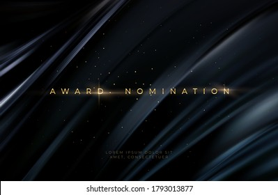 Awarding the nomination ceremony luxury black wavy background with golden glitter sparkles. Vector background EPS10 - Shutterstock ID 1793013877