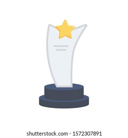 awards flat icons for  cup &  award