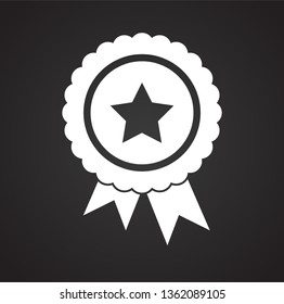 Awards icon on background for graphic and web design. Simple vector sign. Internet concept symbol for website button or mobile app