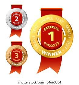 Awards. Vector.