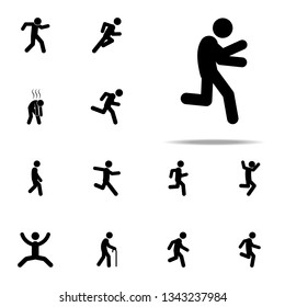 away, escape icon. Walking, Running People icons universal set for web and mobile