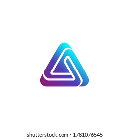 Awesome abstract logo of a triangle or letter A logo, this logo is great for various purposes.