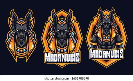 Awesome Anubis Sport and eSport Logo template