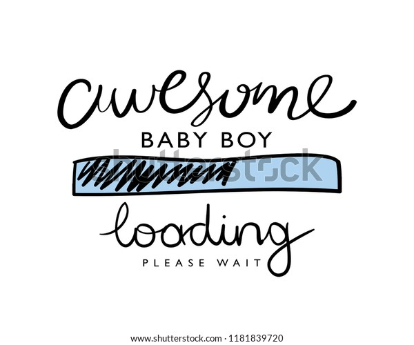 bdd59ef0f8b95 Awesome baby boy loading pregnant concept / Vector illustration design for t  shirt graphics, fashion