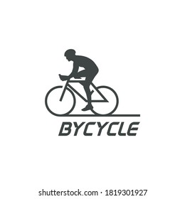 Awesome bicycle silhouette logo design inspiration
