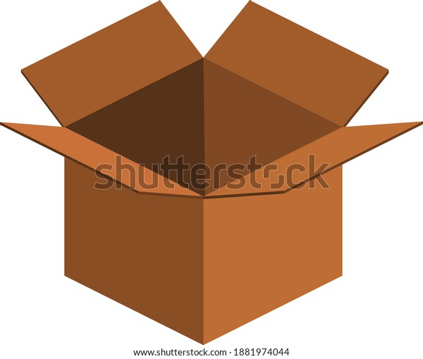 Awesome brown box vector illustration.