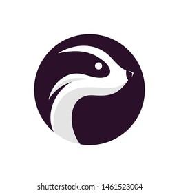 Awesome cute Badger illustration design