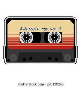 Awesome, mix tape, audio cassette, retro