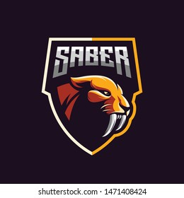 awesome saber tooth logo design
