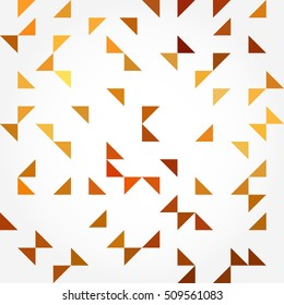Awesome seamless pattern with colorful triangles on a white background