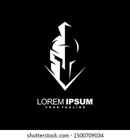 awesome spartan helmet logo design