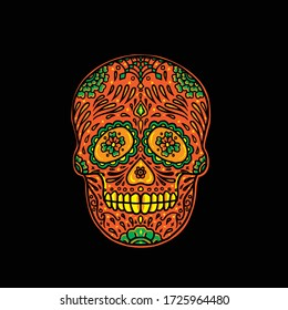 Awesome Sugar Skull Vector design illustration