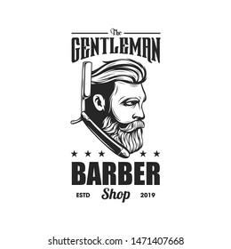 awesome vintage barber logo design
