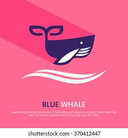 Awesome Whale icon vector illustration
