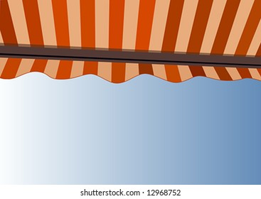 Awning over bright sunny blue sky - Vector - All parts in separate layers