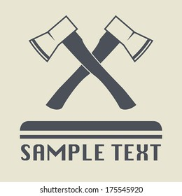 Ax icon or sign, vector illustration