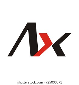 AX initial letter logo design template vector