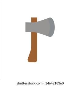 Ax, Ax Tool, Axe, Axe Tool, Building, Construction  Flat Color Icon. Vector icon banner Template. Vector Icon Template background
