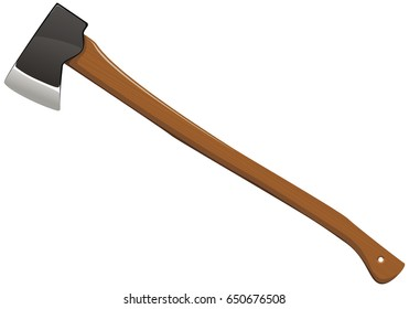 Ax woodcutter on a white background