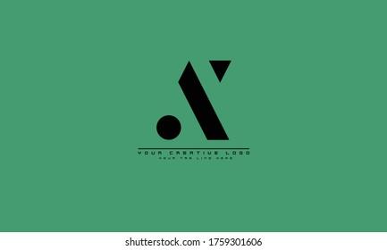 AX XA abstract vector logo monogram template