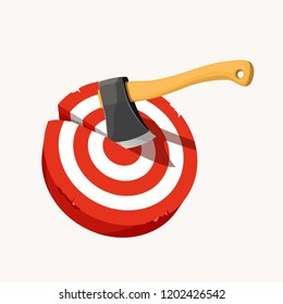 axe in target