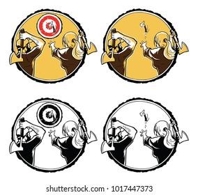 axe throwing logo