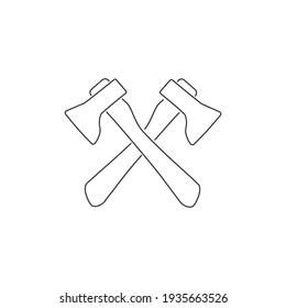 Axes vector line icon in trendy flat style