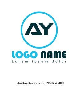 AY company linked letter logo concept. Designed for your web site design, logo, app, UI. initial logo design.
