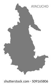 Ayacucho Peru Map grey
