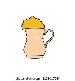Ayran icon. Cartoon ayran vector icon for web design isolated on white background