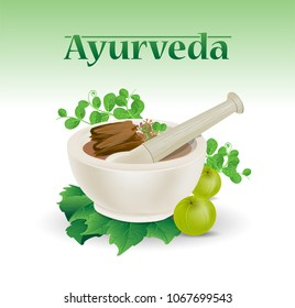 Ayurveda vector design
