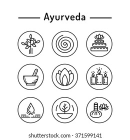 Ayurveda vector illustration icon vata, pitta, kapha. Ayurvedic body types. Ayurvedic infographic. Healthy lifestyle. Harmony with nature. Alternative medicine