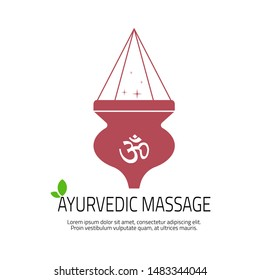 Ayurvedic Massage concept. Shirodhara - an Ayurvedic therapy that involves gently pouring liquids over the forehead