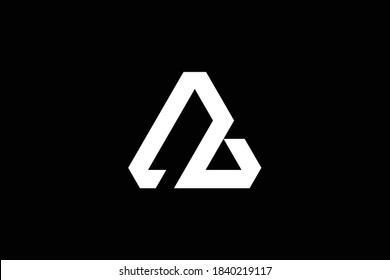 AZ letter logo design on luxury background. ZA monogram initials letter logo concept. AZ icon design. ZA elegant and Professional letter icon design on black background. ZA AZ