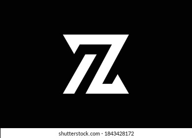 AZ letter logo design on luxury background. ZA monogram initials letter logo concept. AZ icon design. ZA elegant and Professional letter icon design on black background. AZ ZA