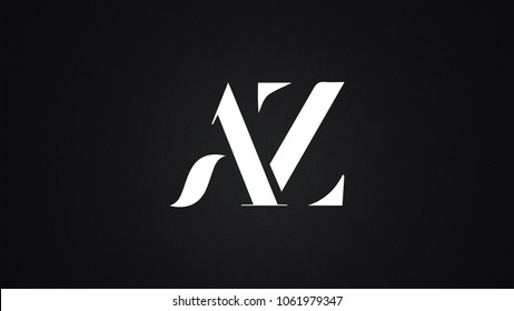 AZ Letter Logo Design Template Vector