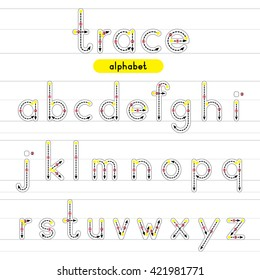 Tracing Alphabets Stock Illustrations Images Vectors Shutterstock