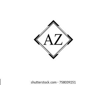 AZ square shape vintage logo