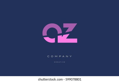 az a z  pink blue pastel modern abstract alphabet company logo design vector icon template