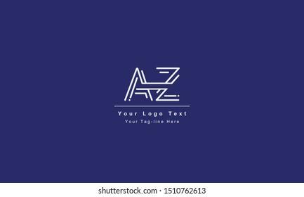 AZ or ZA letter logo. Unique attractive creative modern initial AZ ZA A Z initial based letter icon logo
