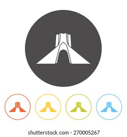 Azadi Tower line icon. Tourism at Iran. Liberty Tower, vector illustration. Symbol of Tehran.