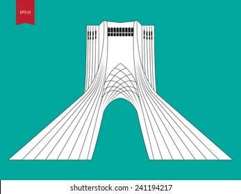 Azadi tower vector illustration