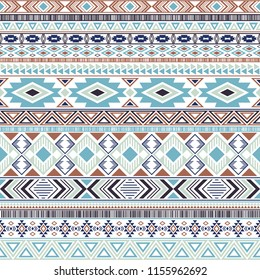 Aztec american indian pattern tribal ethnic motifs geometric vector background. Modern native american tribal motifs clothing fabric ethnic traditional design. Mexican folk fashion.