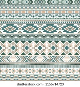 Aztec american indian pattern tribal ethnic motifs geometric vector background. Graphic native american tribal motifs clothing fabric ethnic traditional design. Mayan clothes pattern design.